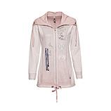 Sweat-Jacke mit mit Stickereien, rosenholz
