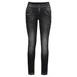 Sweat-Jeans mit Nieten 75cm, schwarz