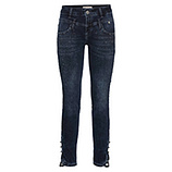 Sweat-Jeans mit Glitzersteinchen 72cm, dark blue