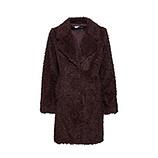 Jacke aus Fake-Fur, bordo-schwarz