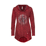 Sweat-Shirt mit Stern-Design, chianti