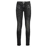 Sweat-Jeans mir Galonstreifen 80cm, dark grey