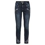 Jeans mit Stickerei 70cm, dark blue