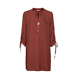 Long-Bluse aus Viskose, rost