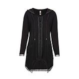 Shirt-Jacke mit Viskose, schwarz