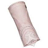 Handstulpen in Leder-Optik, rosenholz
