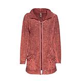 Sweat-Jacke mit Schleifen, cranberry