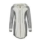 Sweat-Jacke mit Struktur, hellgrau