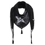 GESCHENKIDEE: Schal mit Print, schwarz