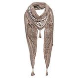 Schal mit Flügel-Print, lehm