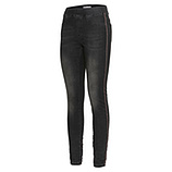 Jeggings mit Galonstreifen 76cm, black denim