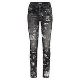 Jeans mit Prints 78cm, light grey