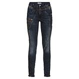 Sweat-Jeans mit Ziertasche 76cm, dark blue
