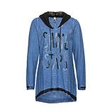 Shirt mit abtrennbarer Kapuze, sky blue