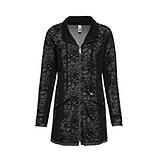 Sweat-Jacke mit Glitzersteinen, schwarz