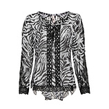 Bluse im Animal-Look, grau