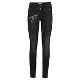 Sweat-Jeans mit Schriftzügen 80cm, black