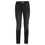 Sweat-Jeans mit destroyed-Elementen 74cm, schwarz