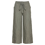 Leinen-Hose im Culotte-Stil, khaki