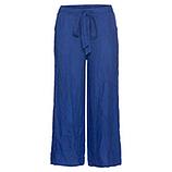 Leinen-Hose im Culotte-Stil, blue glow