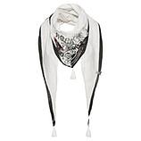 Schal mit Print, offwhite