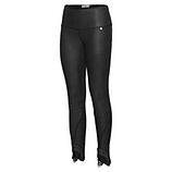 Baumwoll-Leggings mit Leder-Optik 68cm, schwarz