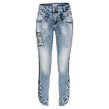 Sweat-Jeans mit Patches 72cm, blue