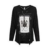 Shirt mit High-Heels-Motiv, schwarz