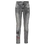 Jeans mit Animal-Galonstreifen 78cm, dark grey