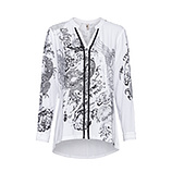 Bluse mit metallic-Print, weiss