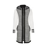Sweat-Jacke mit Struktur, schwarz-offwhite
