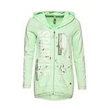 Sweat-Jacke mit Ripp-Struktur, lemongrass