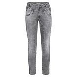 Sweat-Jeans mit Spruchband 68cm, grey