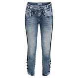 Sweat-Jeans mit Knöpfen 62cm, light blue
