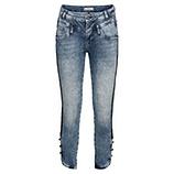 Sweat-Jeans mit Knöpfen 62cm, light blue