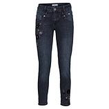 Jeans mit Blüten-Motiv 68cm, dark blue