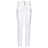 Sweat-Hose mit Glitzersteinchen 80cm, weiß
