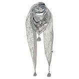 Schal mit Print, silber