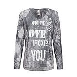 Shirt im Alloverprint, grau