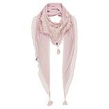 Schal mit floraler Spitze, rosenholz