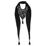 Schal mit Animal-Details, grau-schwarz