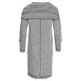 Strick-Kleid mit Rollkragen, grau-melange
