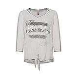 Shirt mit Knoten, silber