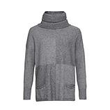 Pullover mit abtrennbarem Kragen, grau