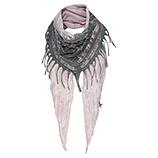 Schal mit Loch-Struktur, rosenholz