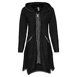 Sweat-Jacke mit Patch, schwarz