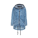 Mantel in Denim-Optik, light blue
