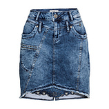 Jeansrock mit Nieten, light blue