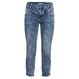 Sweat-Jeans mit Nieten 60cm, light blue