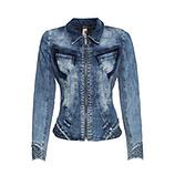 Jeansjacke mit Reißverschluss, blue